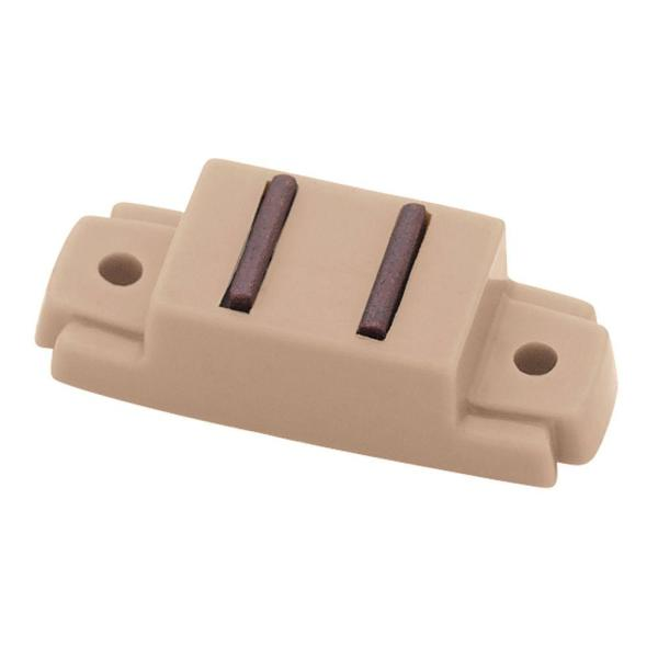 2-1/2 in. Tan Magnetic Door Catch with L-Strike