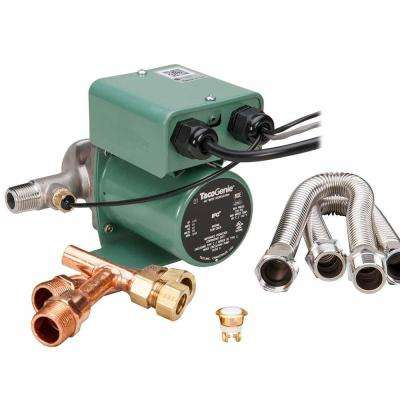 TacoGenie 1/40 HP Hot Water Recirculating Pump with Undersink Kit