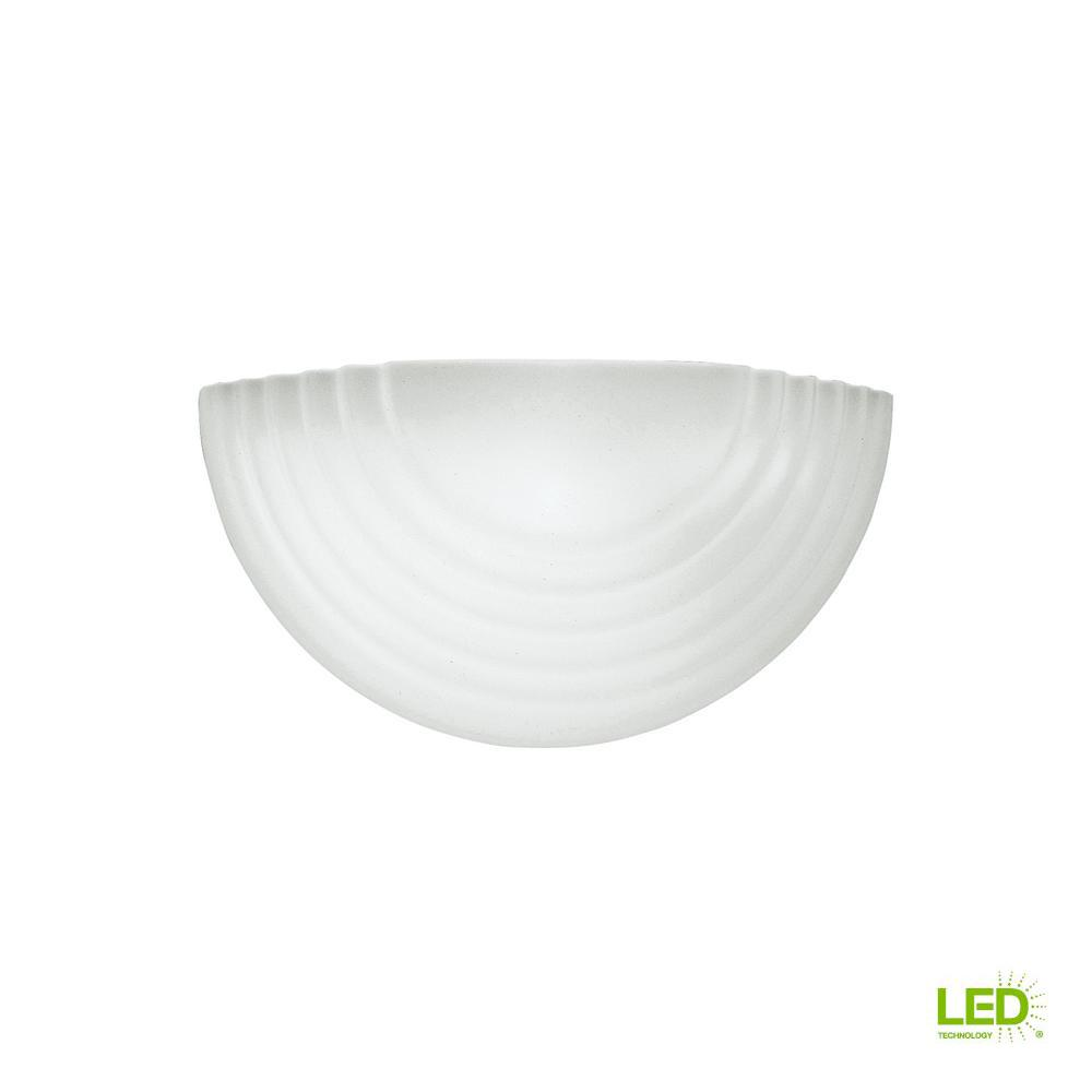 Sea Gull Lighting Decorative Wall Sconce 1 Light White With Led Bulb