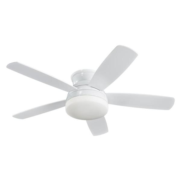 Traverse 52 in. Indoor White Ceiling Fan with Light Kit