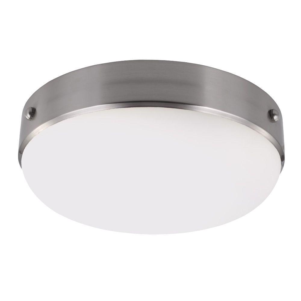 Cadence 2-Light Brushed Steel Indoor Flush Mount
