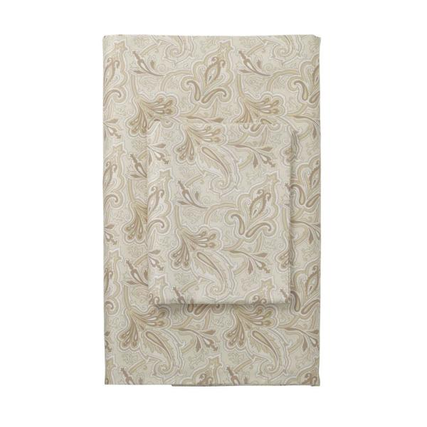 The Company Store Legends Blair Paisley Beige 400 Thread Count Queen