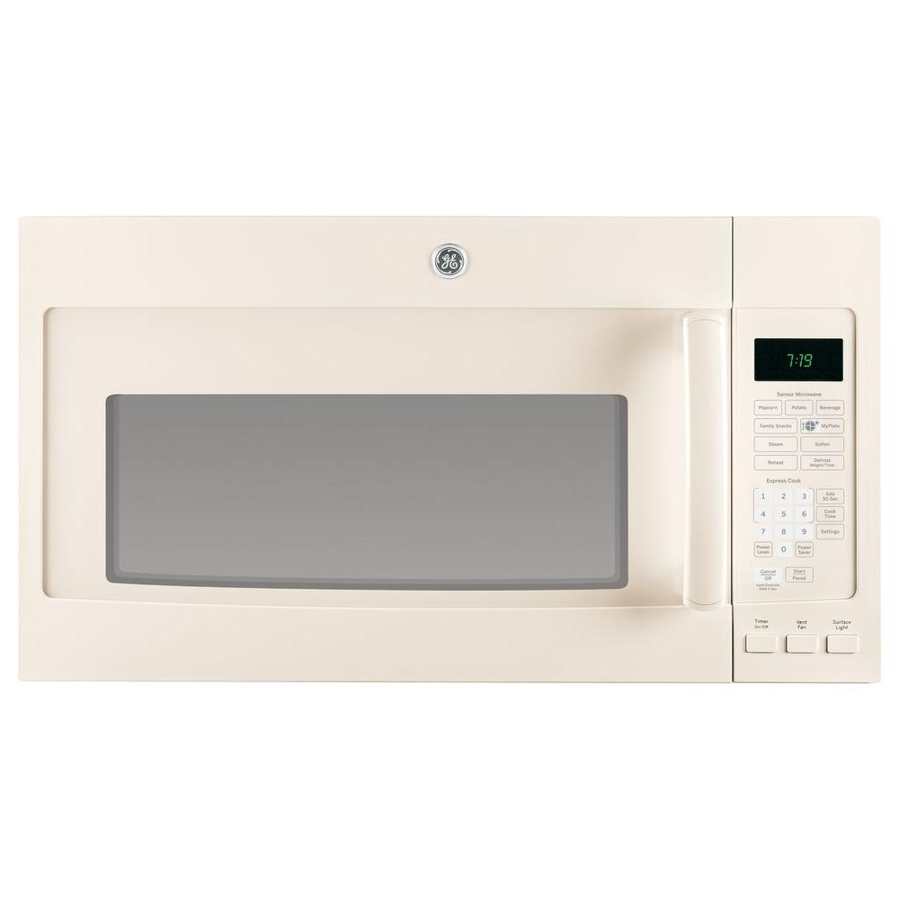 GE 1.9 cu. ft. Over the Range Microwave in Bisque with Sensor Cooking