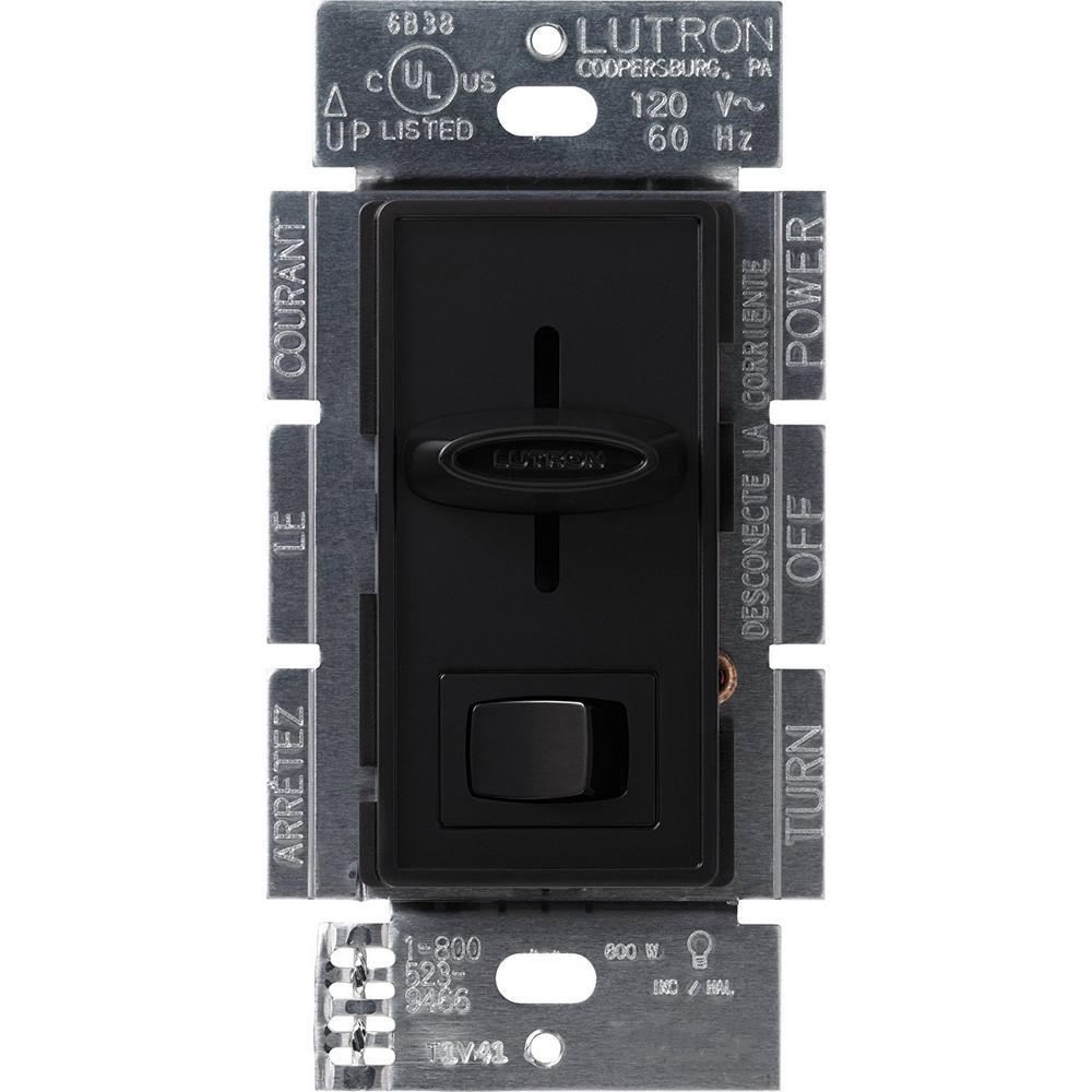 Skylark 600-Watt Single-Pole Preset Dimmer, Black