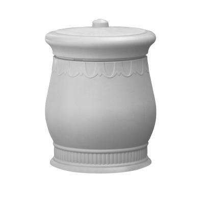 Savannah 23 in. x 23 in. x 32 in. Polyethylene Urn Waste and Storage Bin in White