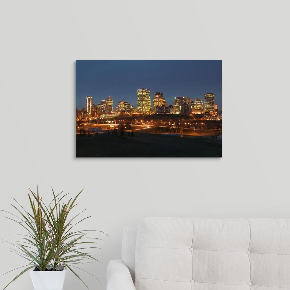 Greatbigcanvas Canada Alberta Edmonton Downtown Skyline By Walter Bibikow Canvas Wall Art