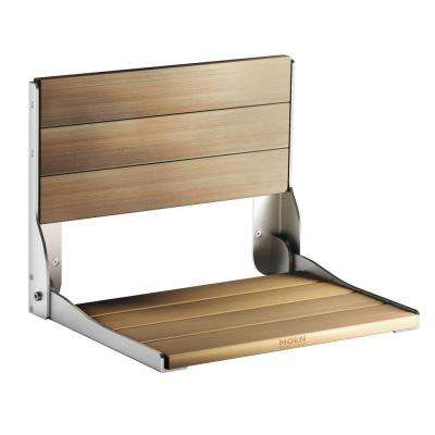 Fold Down Teak Shower Chair