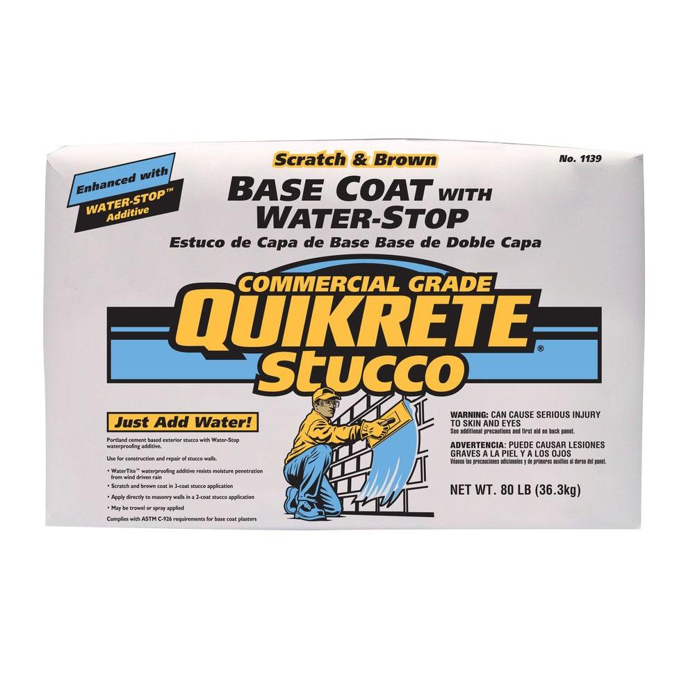 Quikrete 80 lb. Stucco Base Coat with Water-Stop