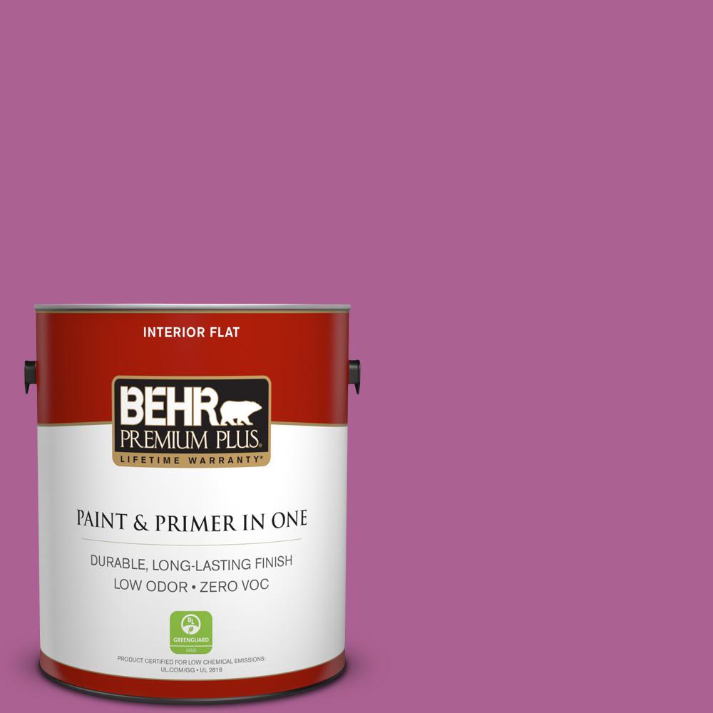 BEHR Premium Plus 1-gal. #680B-6 Exotic Bloom Zero VOC Flat Interior Paint