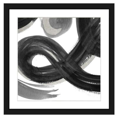 22 in. x 22 in. Black and white abstract II Framed Archival Paper Wall Art