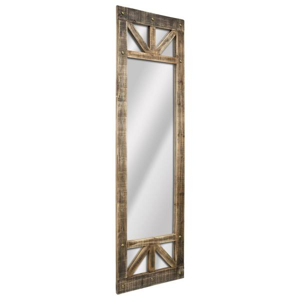 Oversized Rectangle Brown Mirror (70.25 in. H x 20.25 in. W)