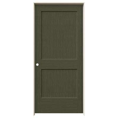 36 in. x 80 in. Monroe Juniper Stain Right-Hand Solid Core Molded Composite MDF Single Prehung Interior Door