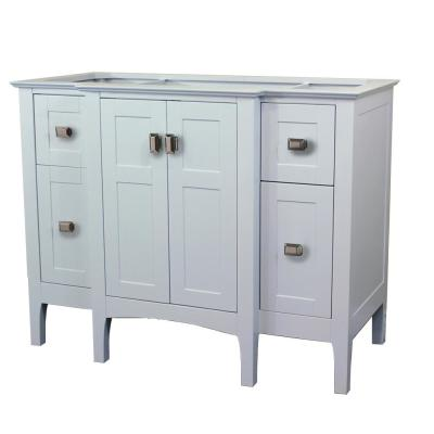 48 in. W x 21.5 in. D x 33.5 in. H Bath Vanity Cabinet Only in White