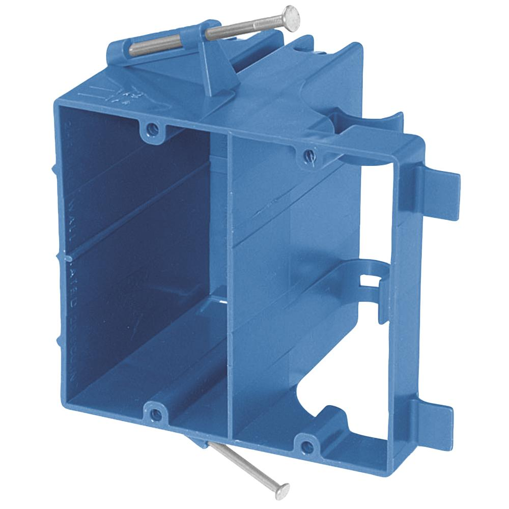 2-Gang 25 cu. in. Blue PVC Old Work Switch and Outlet Box-B225R-UPC ...