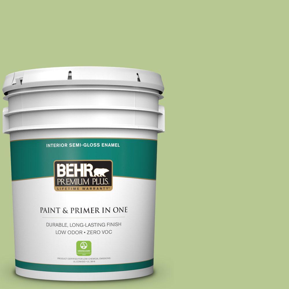 5 gal. #420D-4 Marsh Fern Semi-Gloss Enamel Zero VOC Interior Paint