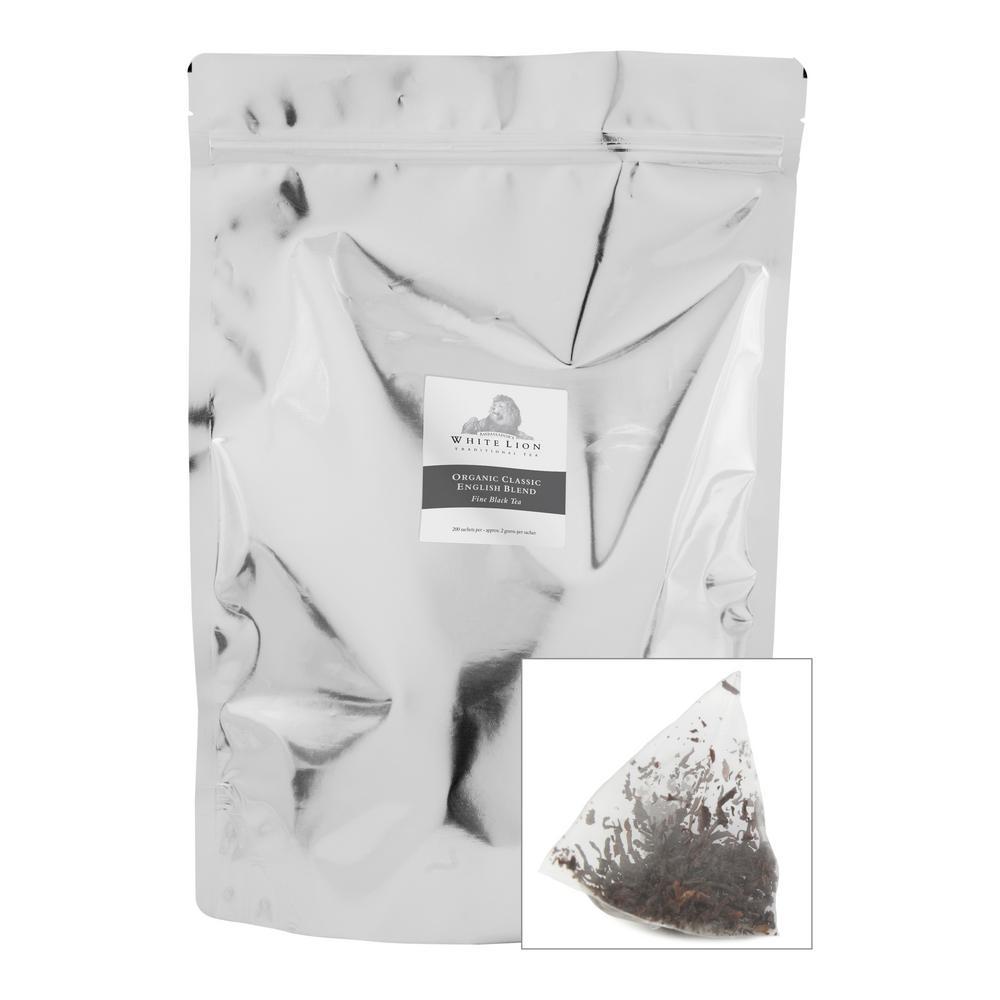 Tea Organic Classic English Blend Bulk Sachets Food Service Tea Bag (200 per Pack)