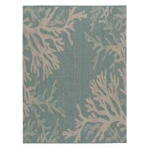 Reef Aqua 5 ft. x 7 ft. Indoor/Outdoor Area Rug
