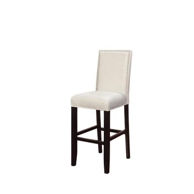 Stewart 30 in. Crystal White Cushioned Bar Stool