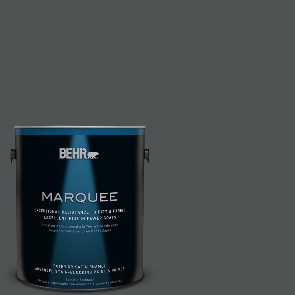 1 gal. #PPU25-01 Carbon Copy Satin Enamel Exterior Paint