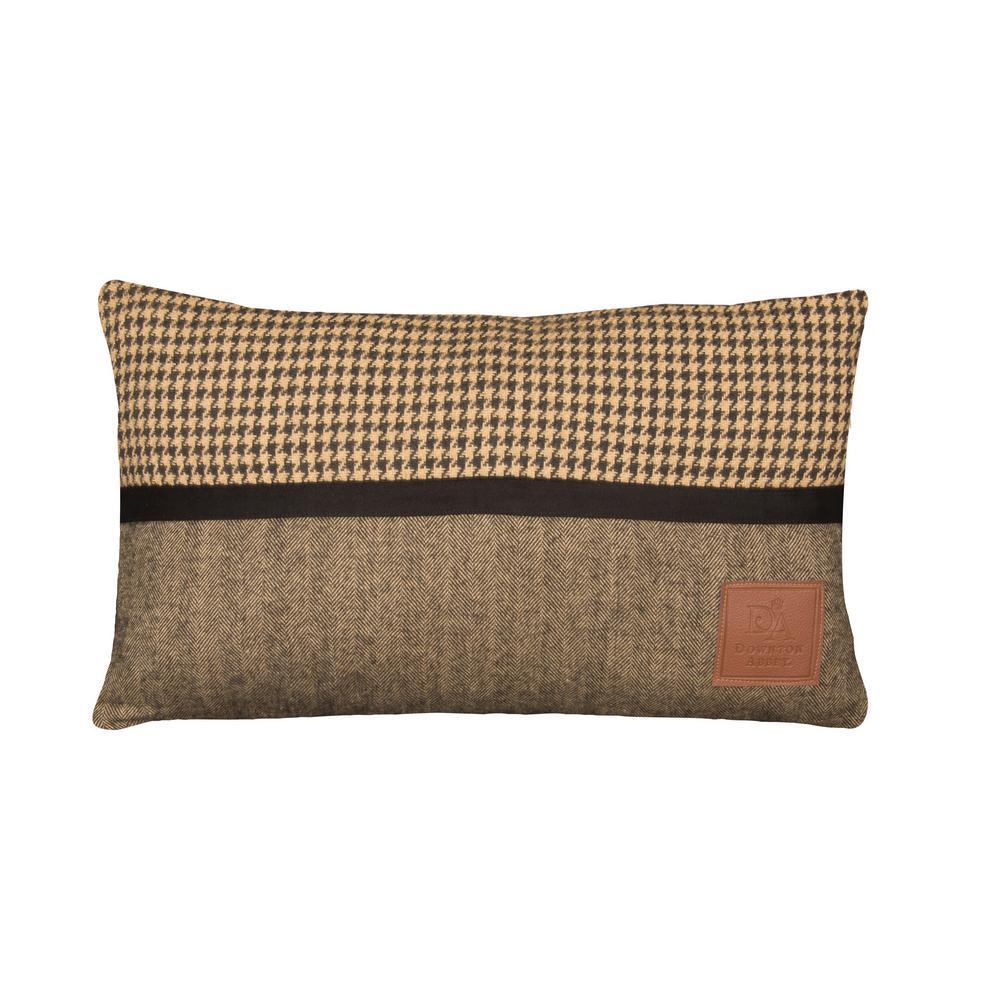 Downton Hunt Club Black/Tan Reversible Throw Reversible Decorative Pillow