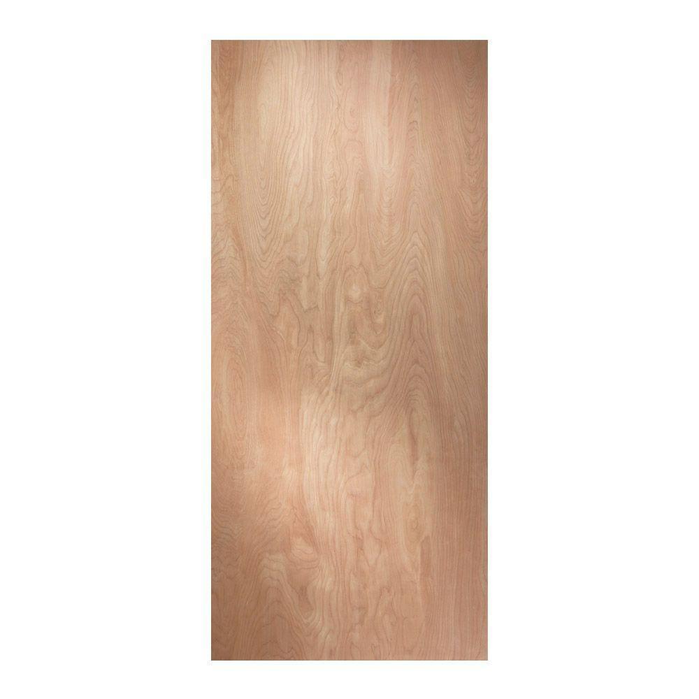 birch unfinished flush wood interior door