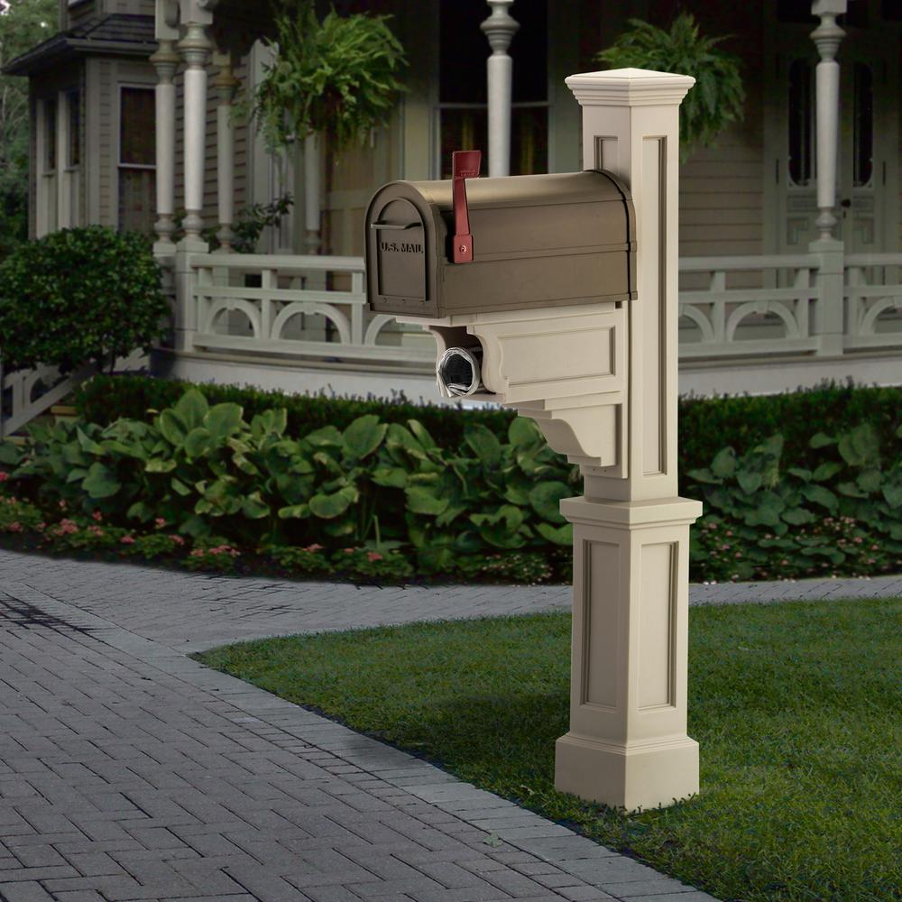 Dover Plastic Mailbox Post, Clay