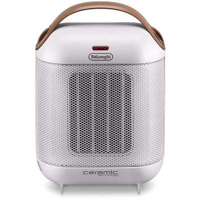 1,500-Watt Capsule Compact Ceramic Portable Heater in White