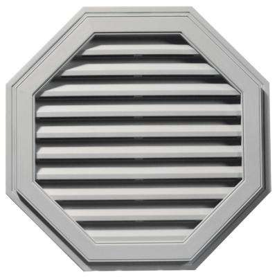 32 in. Octagon Gable Vent in Paintable