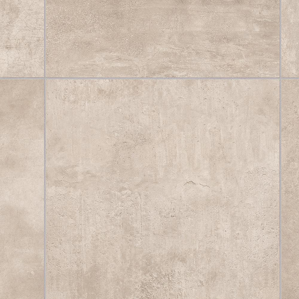 TrafficMASTER Take Home Sample - Brushed Limestone Neutral Vinyl Sheet - 6 in. x 9 in.