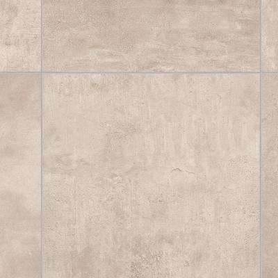 Take Home Sample - Brushed Limestone Neutral Vinyl Sheet - 6 in. x 9 in.