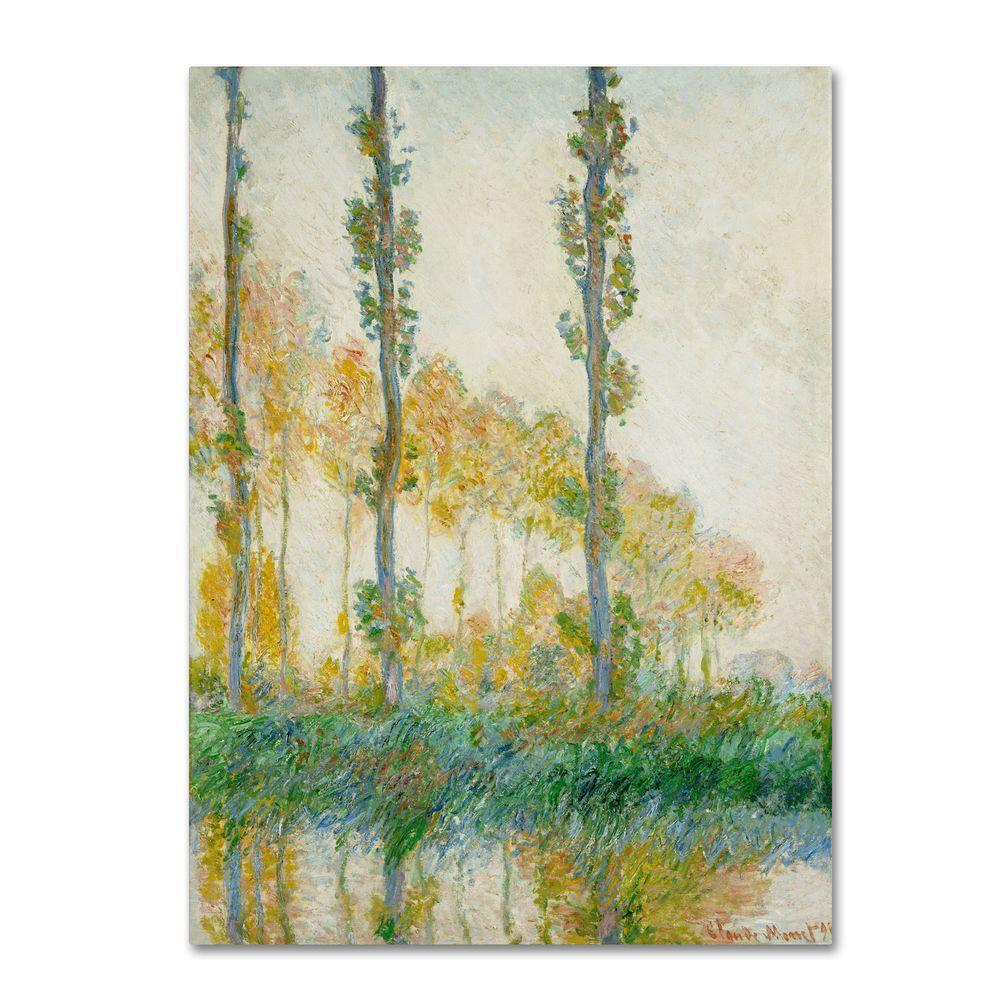 Trademark 35 in. x 47 in. The Three Trees, Autumn Canvas Art