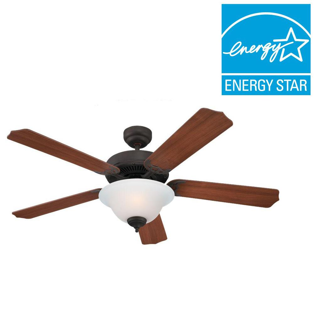 Sea Gull Lighting Quality Max Plus 52 in. Misted Bronze Indoor Ceiling Fan