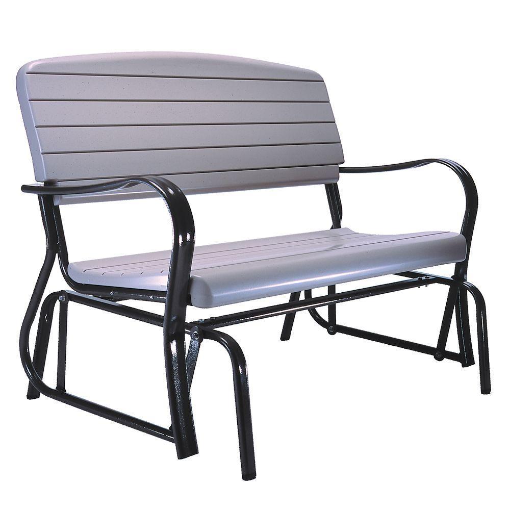 Lifetime Outdoor Patio Glider Bench, Outdoor Patio Glider