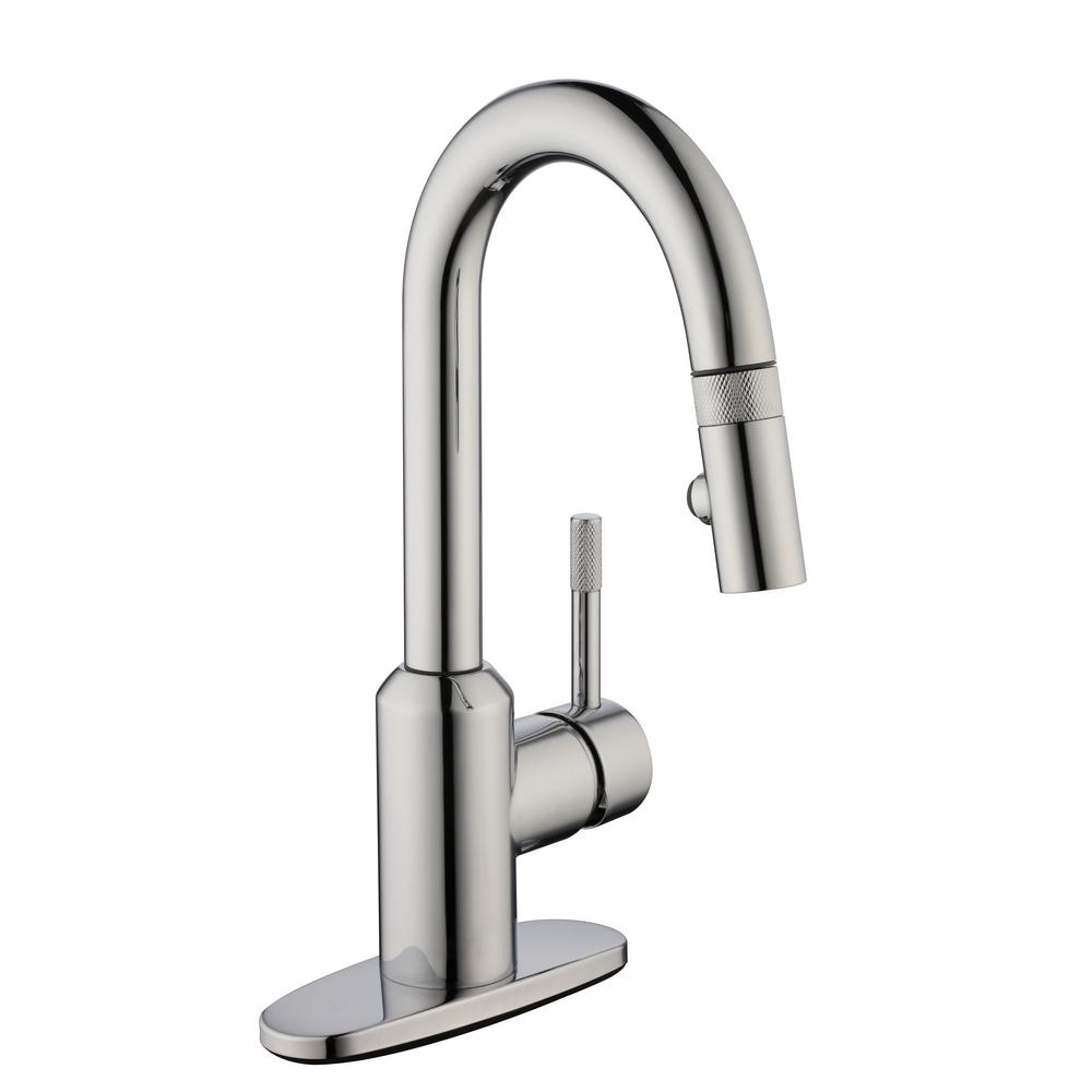 Glacier Bay 2600 Series Single Handle Pull Down Sprayer Laundry Faucet In Chrome