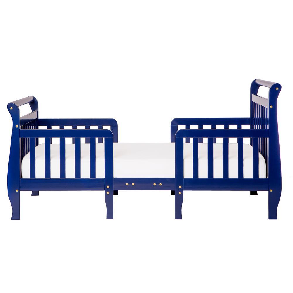 Emma Royal Blue Toddler Adjustable Sleigh Bed