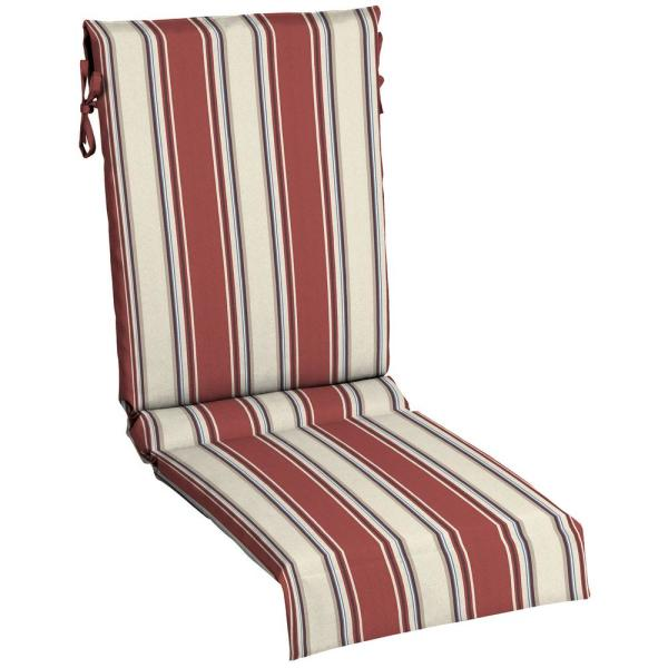 Hampton Bay 18 In X 26 5 In Chili Stripe Outdoor Lounge Chair Sling Chair Cushion Tk1w119b 9d5 The Home Depot