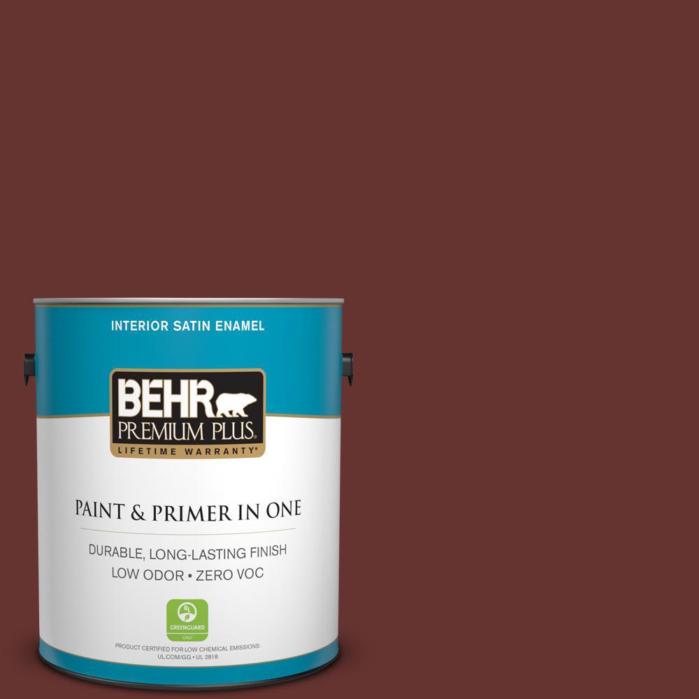 1 gal. #PPU2-01 Chipotle Paste Zero VOC Satin Enamel Interior Paint