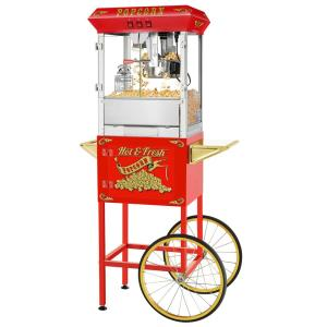 8 oz. Hot and Fresh Red Popcorn Machine with Cart