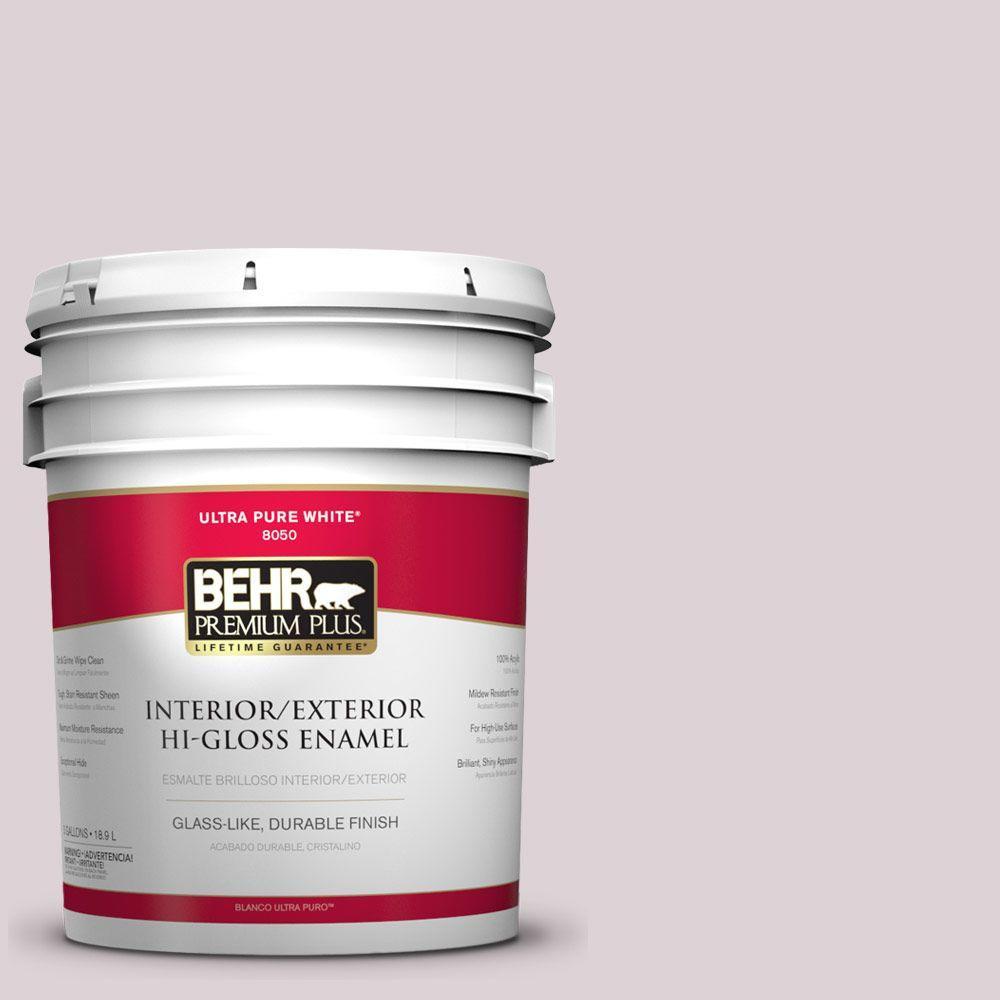 BEHR Premium Plus 5-gal. #100E-2 Mauve Mist Hi-Gloss Enamel Interior/Exterior Paint
