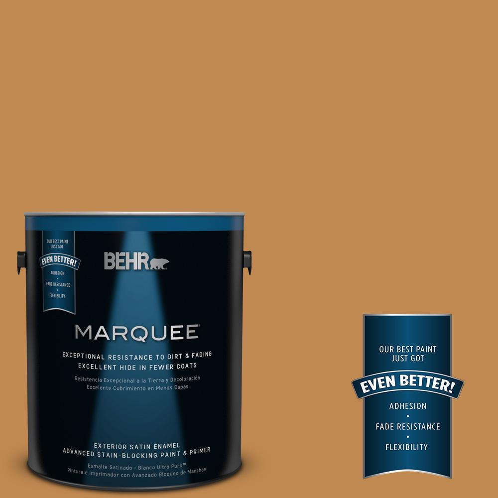 BEHR MARQUEE 1-gal. #M250-6 Toffee Tart Satin Enamel Exterior Paint