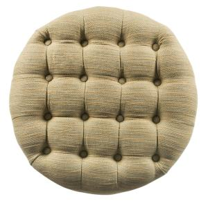 Incredible Homepop Round Tan And Cream Tweed Tufted Storage Ottoman Alphanode Cool Chair Designs And Ideas Alphanodeonline
