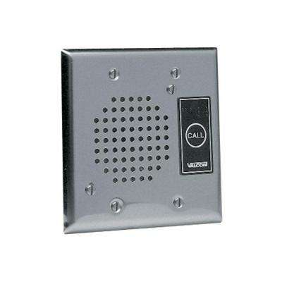 Flush Mount Doorplate Speaker with LED - Stainless