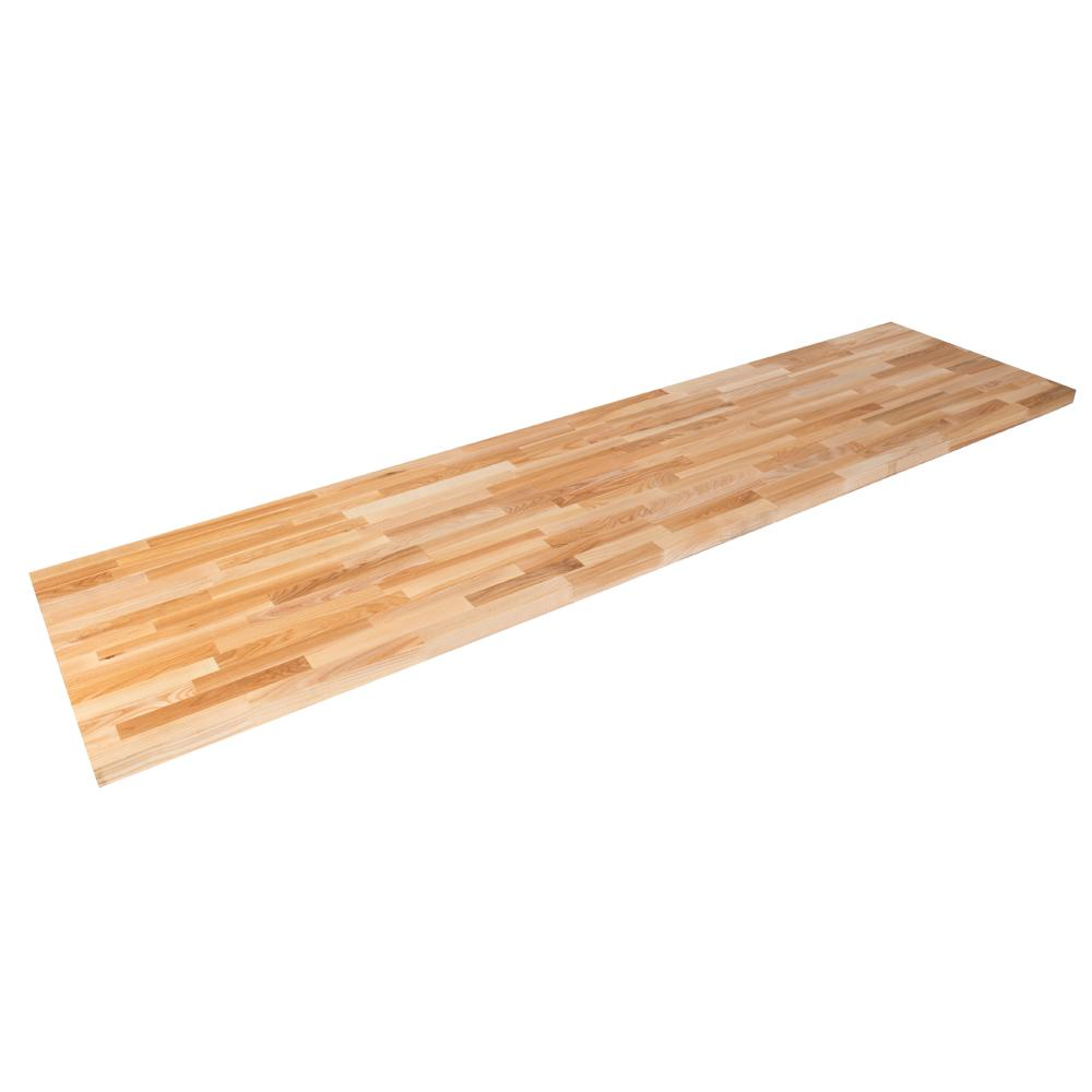Hardwood Reflections 4 ft. 2 in. L x 2 ft. 1 in. D x 1.5 in. T Butcher Block Countertop in Unfinished Ash