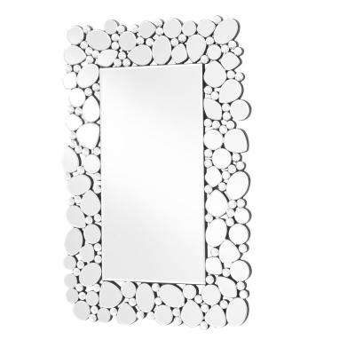 Emory 22 in. Contemporary Rectangle Mirror with Clear MDF Frame, Rectangle Shape, Mounting Type: D Ring