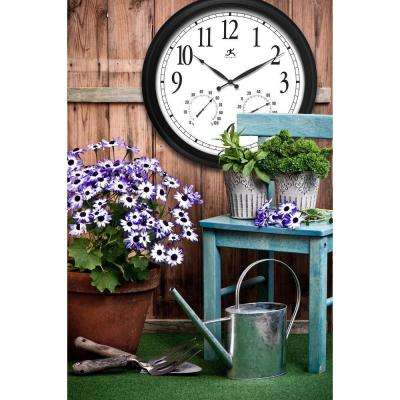 Definitive Radio Controlled 24 in. W x 24 in. L Round Outdoor Wall Clock