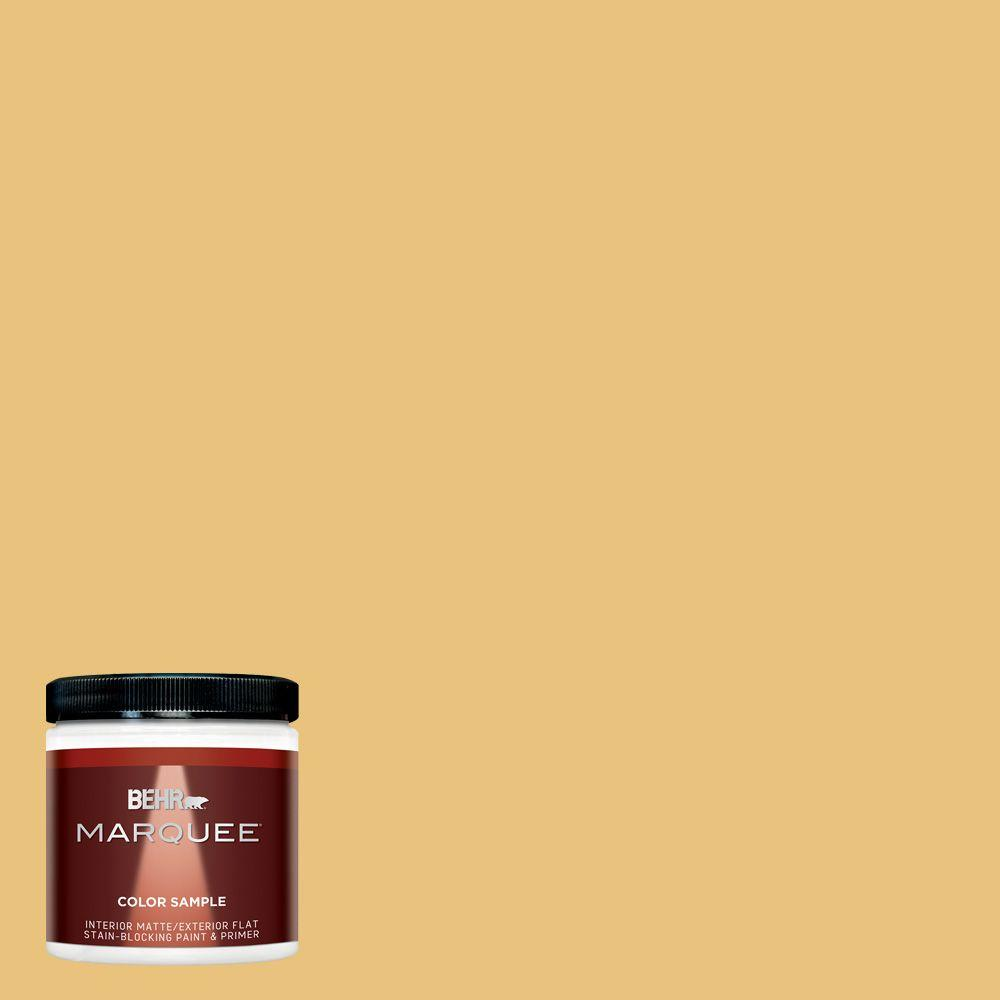 BEHR MARQUEE 8 oz. #MQ4-13 Golden Thread Interior/Exterior Paint Sample