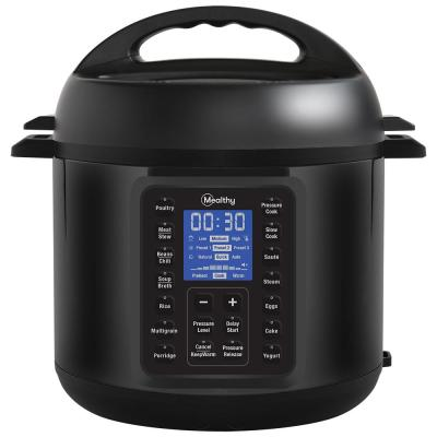 MultiPot 2.0, 6 Qt. in Black Stainless Steel with Electrical Programmable Pressure Cooker, Hands-Free Release, 1000 W