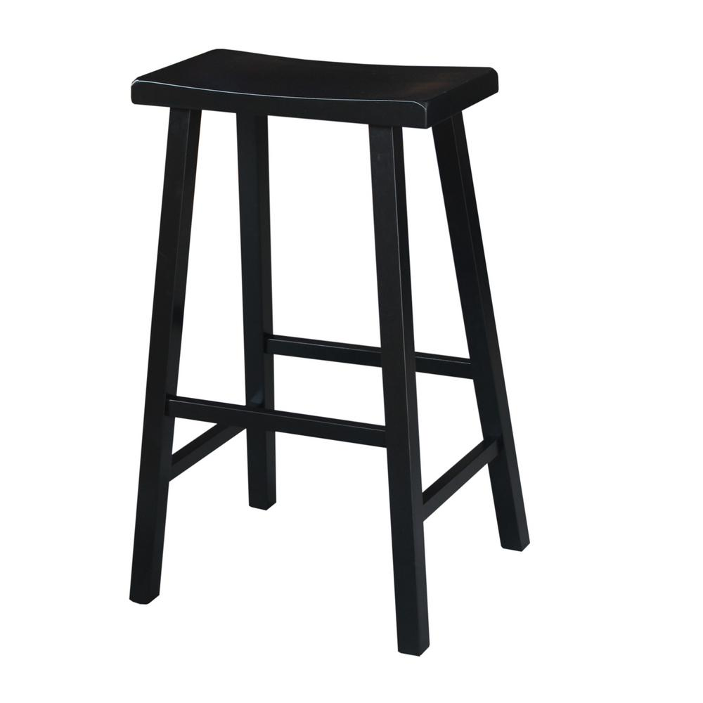 International Concepts 30 In Black Bar Stool 1s37 683