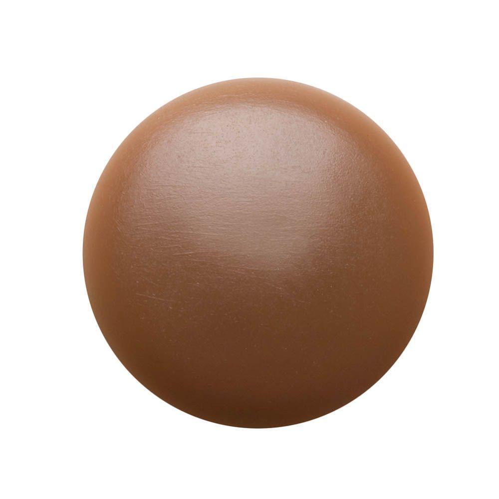 #2 Dark Brown Plastic Flat-Head Phillips Screw Covers (4-Pack)