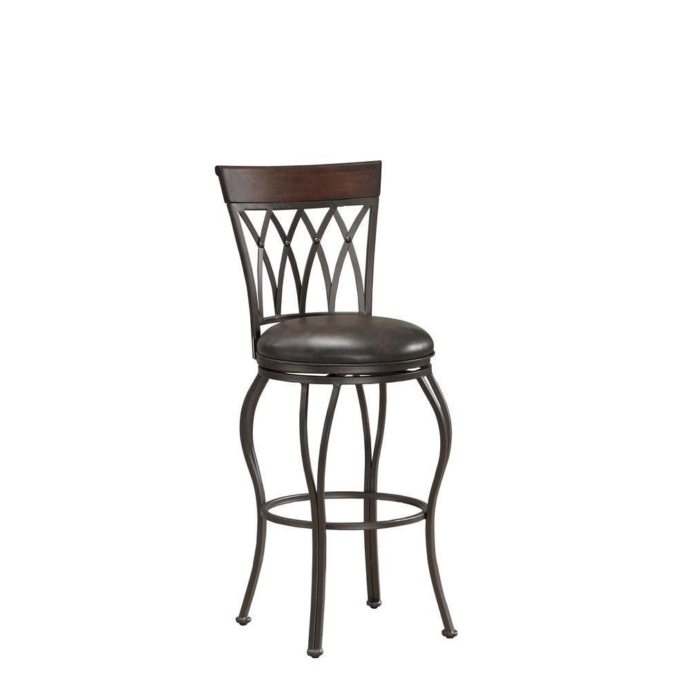 American Heritage Palermo 34 in. Extra Tall Stool in Pepper